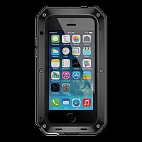 Чехол LunaTik Taktik Strike Gorilla Glass для iPhone 5 5s 5se Black 4949, КОД: 136567