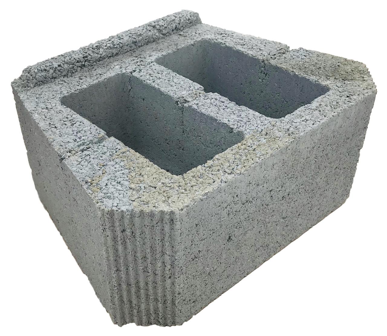 Подпорный камень гладкий, серый