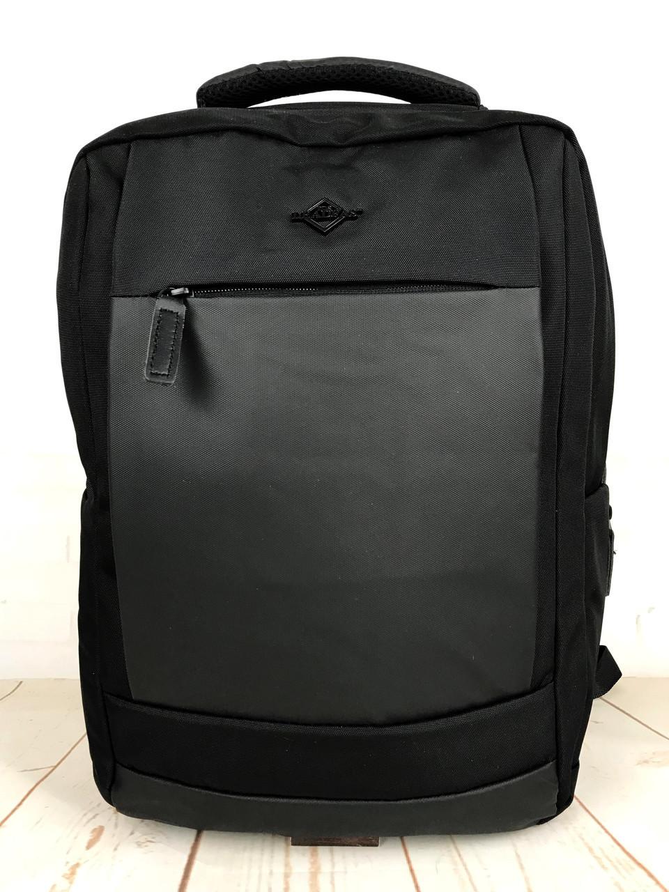 Мужской качественный рюкзак с системой Антивор и USB переходником. Мужской портфель. Качественный рюкзак.