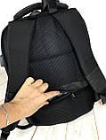 Мужской качественный рюкзак с системой Антивор и USB переходником. Мужской портфель. Качественный рюкзак., фото 2