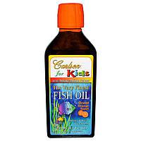 Рыбий Жир для Детей со Вкусом Апельсина, The Very Finest Fish Oil for Kids, Carlson Labs, 200 мл