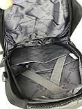 Мужской качественный рюкзак с системой Антивор и USB переходником. Мужской портфель. Качественный рюкзак., фото 7