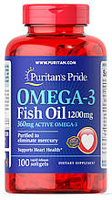 Puritan's Pride Omega-3 Fish Oil 1200 mg 100 softgels