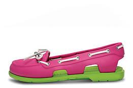 Женские мокасины Crocs Beach Line Boat Pink Green W размер W6 114850-W6, КОД: 236670