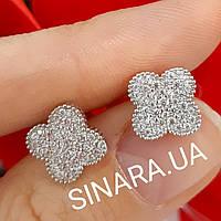 Серьги Джорджия - родированное серебро с камнями, цена 450 грн ... 79a66df8963