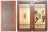 Оригинальные нарды Премьера среднего размера из натурального дерева