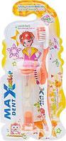 Детская зубная щётка с брелком куклой Maxdent Junior
