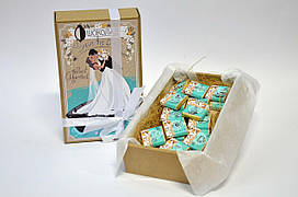 Набор с молочным шоколадом Крафт «Счастливая Дата» 30 плиток OK-1009