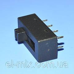 Переключатель ползунковый 3 положения 2х4pin на фен XC2310