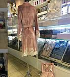 Жіночий велюровий домашній халат, фото 2