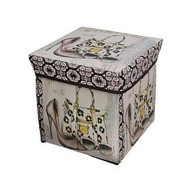 Пуфик с крышкой для хранения вещей, Мишки, КОД: 182477