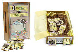"""Набор с молочным шоколадом Крафт - Мопс """"Для женщин"""" 20 плиток OK-1011"""