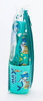 Детский подарочный комплект в пенале Maxdent Junior (зубная паста + зубная щетка с колпачком и стаканчиком)