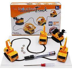 Индуктивный игрушечный автомобиль Inductive Truck / Экскаватор / индуктивная машинка трек