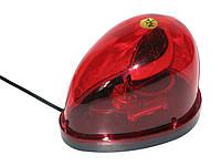 Мигалка  капелька KJ-301 12V красная в прикуриватель магнитная
