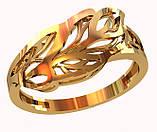 Кольцо  женское серебряное Leaves 212 440, фото 2