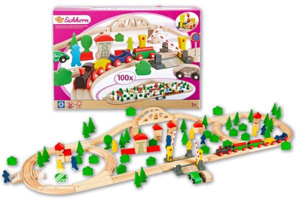 Деревянная железная дорога Eichhorn 100 ел