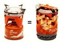 Горелка газовая туристическая Fire Maple Fixed Star FMS-X2 1L Печка (Оранжевая)