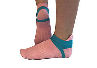Носки для йоги RAO нескользящие Розовые 000001068, КОД: 270265