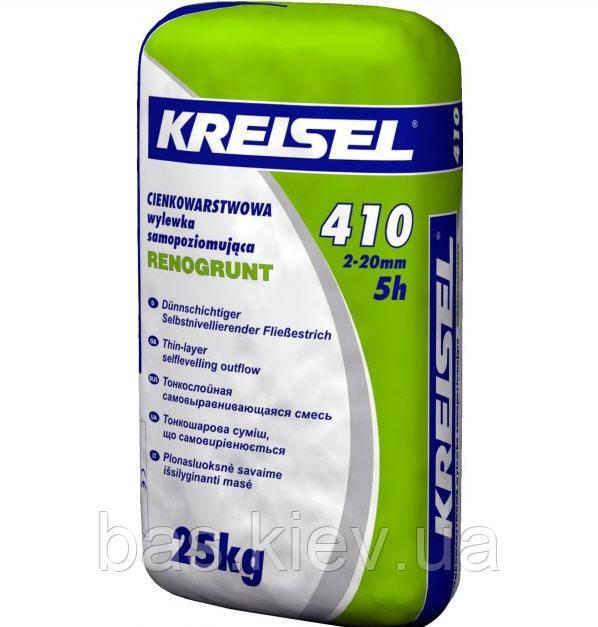 Kreisel 410 Смесь для пола самовыравнивающая ,слой  2-20 мм, 25кг