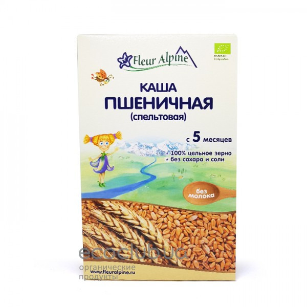 Каша безмолочная пшеничная спельтовая Fleur Alpine 175г