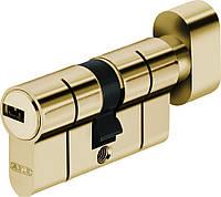 Abus KD6PS 90мм 50х40Т ключ/тумблер латунь матовая