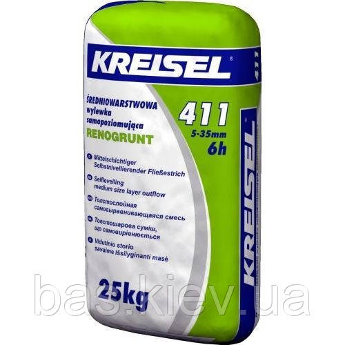 Kreisel 411 Смесь для пола самовыравнивающая ,слой  5-35 мм,  25кг