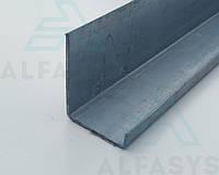 Профиль оцинкованный L-образный (Г-образный, уголок) усиленный 50х40х10х1мм