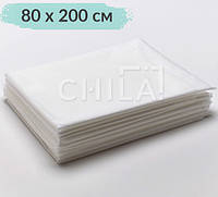 Простыни одноразовые 80*200 см нарезные в сложении (10 шт/уп)