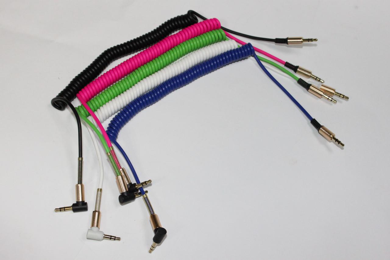 Аудио кабель AUX пружина