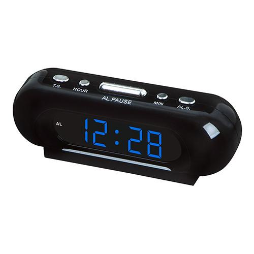 Часы сетевые  VST 716-5, Настольные электронные часы, синий цвет