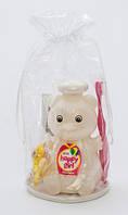 """Подарочный набор Happy Girl """"Медвежёнок"""" (шампунь + зубная паста + зубная щётка) резинка для волос в ПОДАРОК!"""