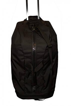 Дорожная сумка на колесах с золотым логотипом Adidas Boxing (черная, ADIACC057B), фото 2