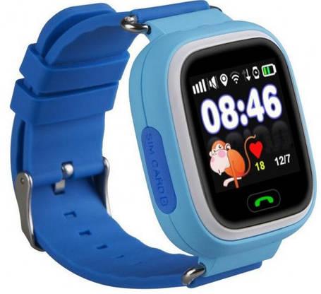 Часы Smart Baby Watch Q90 Kids Blue Гарантия 1 месяц, фото 2