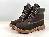 6440de207b4d Ботинки зимние мужские в стиле Timberland код товара 4S-1163. Коричневые