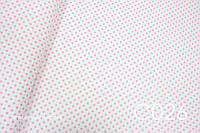 Ткань сатин Горох розовый 8 мм