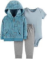 Куртка флисовая + Штаны + Боди Carters. 24 мес (2 года) 81-86 см. Костюм 3-ка для мальчика