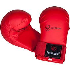 Перчатки для карате Budo-Nord WKF Approved Red S, КОД: 100049
