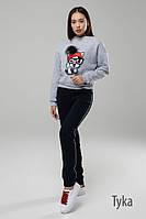 Женский шикарный свитшот с рисунком и штаны отдельно (расцветки), фото 1