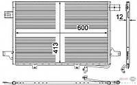 2E0 820 413 A Конденсатор кондиционер  С осушытелем