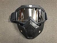 Кроссовые очки+защитная маска BEON (Зеркальные)