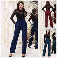 Женские свободные брюки с высокой талией 17110, фото 1