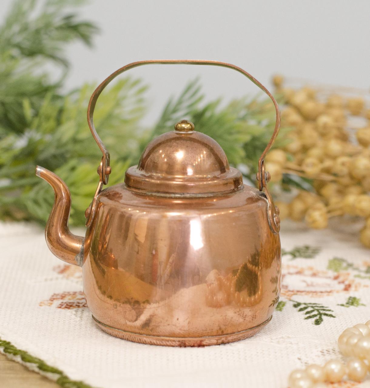 Медный чайник в миниатюре, медь, Швеция