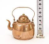 Медный чайник в миниатюре, медь, Швеция, фото 6