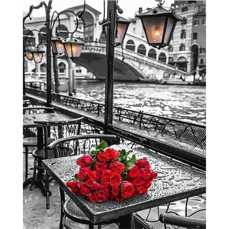 """Картина по номерам 50х40см Babylone Turbo """"У моста Риальто в Венеции"""""""
