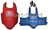 Защита груди (жилет) двухстор. Кожзам Лев LV-4282 (наполнитель-пенополиуретан,р-р S, M, L, XL крепл.на ремнях)
