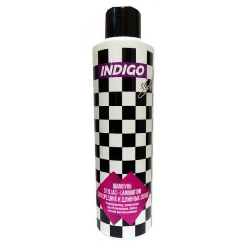 Шампунь Шеллак-кераТенирование для средних и длинных волос Indigo Style, 200ml