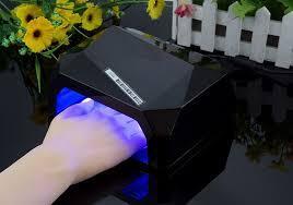 Лампа для маникюра Diamond 36W Черная LED+CCFL