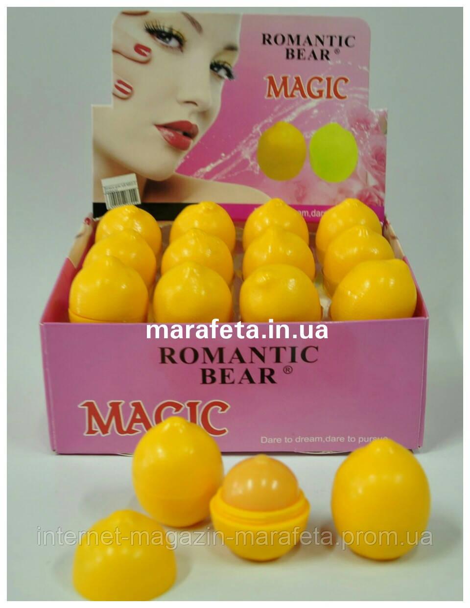 """Бальзам для губ Romantic Bear MAGIC """"Лимон"""""""