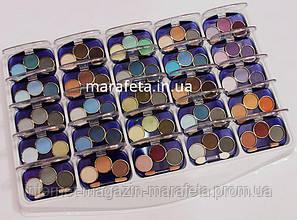 Тени Cosmetics синяя палетка три цвета
